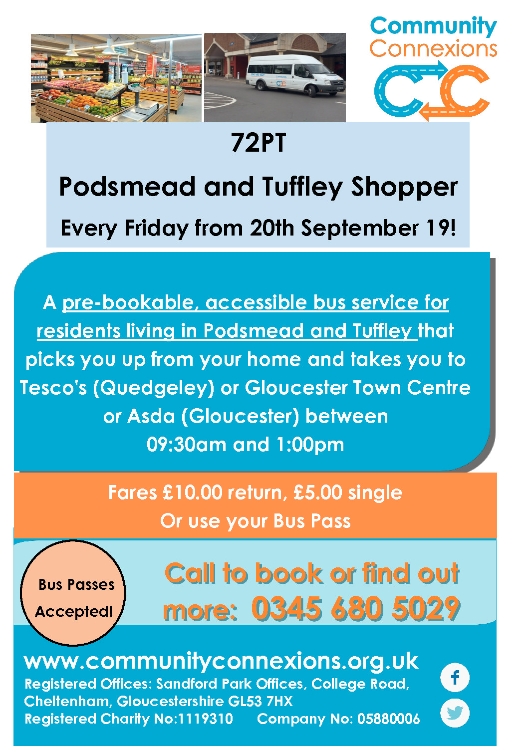 New Tuffley & Podsmead Shopper bus proposed